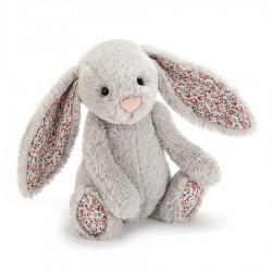 Kleine konijn blossom zilver Jellycat (18 cm)