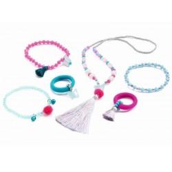 Juwelenset - Pompoms en vlinders