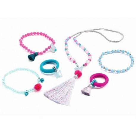 Coffret bijoux - Pompons et papillons