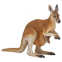 Papo kangoeroe en baby figuur
