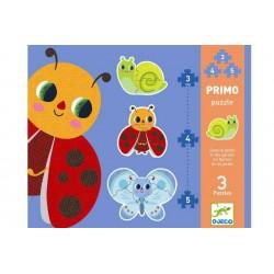 """3 primo puzzel """"in de tuin"""""""