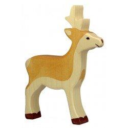 Houten jong hert Figuur