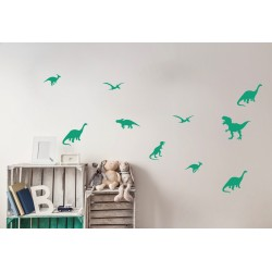 Muurstickers groene Dino's PÖM