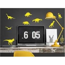 Stickers muraux Dinos jaune PÖM