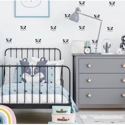 Stickers muraux Panda PÖM