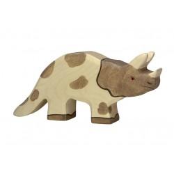 Houten figuur Triceratops