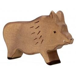 Figurine Sanglier en bois