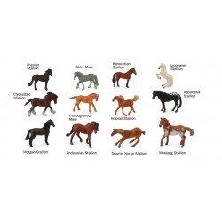 set van 12 paarden mini