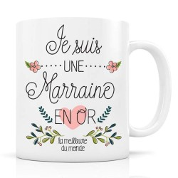 "Mug ""Marraine en or"" Label Tour"