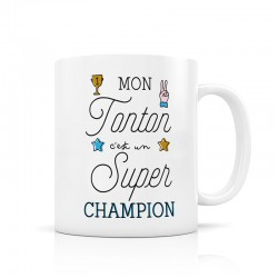 "Mug ""Tonton super champion"" Label Tour"