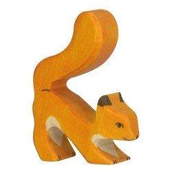 Figurine en bois Ecureuil