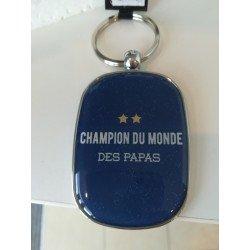 """Porte-clef  """"Champion du monde des papas"""""""