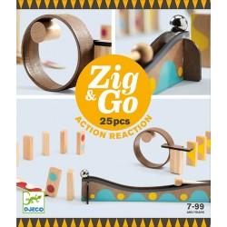 Zig & Go, actie-reactie baan (25 stuks)