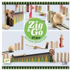 Zig & Go, actie-reactie baan (27 stuks)