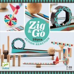 Zig & Go, actie-reactie baan (28 stuks)