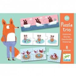"""Puzzle trio """"verhaaltjes"""" (8 puzzels)"""