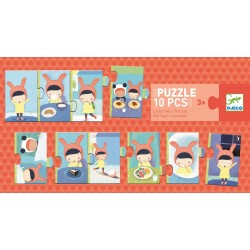 """Puzzle """"la journée"""" (10 pièces)"""