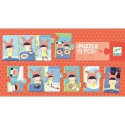 """Puzzle """"de dag"""" (10 stuks)"""