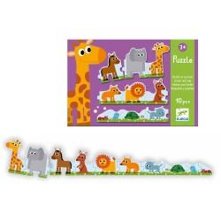 "Puzzle ""kleine en grote dieren"" (10 stuks)"