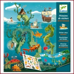 """Histoires de stickers """"les aventures en mer"""""""