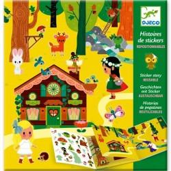 """Histoires de stickers """"la forêt magique"""""""