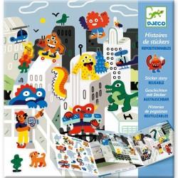 """Histoires de stickers """"invasion des monstres"""""""