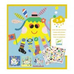 Créer avec des stickers - Marins Djeco