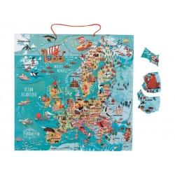 Puzzle d'Europe magnétique