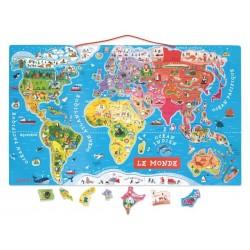 Magnetische puzzel Wereld