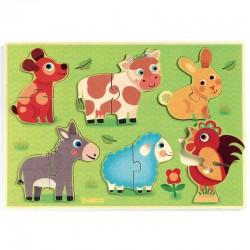 """Puzzle """"coucou cow"""" (2 pièces)"""