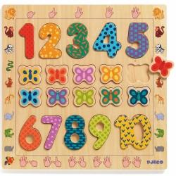 Djeco inlegpuzzel cijfers 1-10