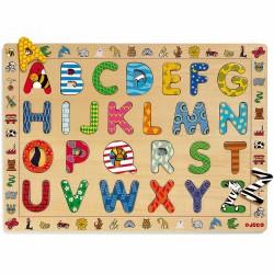 Djeco houten inlegpuzzel ABC