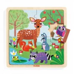 "Houten puzzel ""Forest"" (16 stuks)"