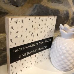 """Blok+ """"Faute d'amour et d'eau fraiche, ... """""""