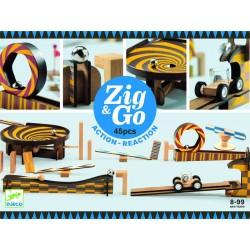 Zig & Go, actie-reactie baan (45 stuks)