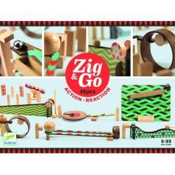 Zig & Go, actie-reactie baan (48 stuks)