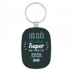 """Porte-clef """"Mon super papa"""""""
