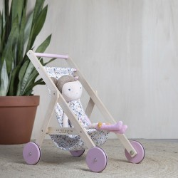 Houten poppenwagen Little Dutch