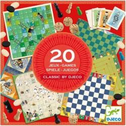 Boite de 20 jeux classiques Djeco