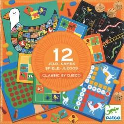 Boite de 12 jeux classiques Djeco
