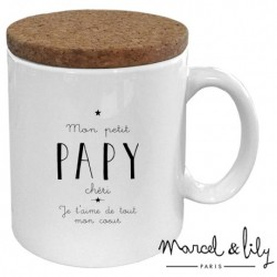 "Mug met deksel ""papy chéri"""