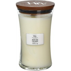 Bougie Woodwick White Teak (grande)