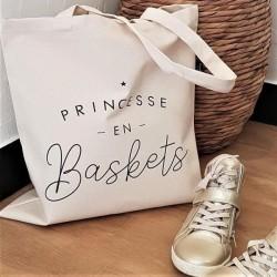 "Tote-bag ""Princesse en baskets"""