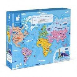Puzzle éducatif géant les curiosités du monde