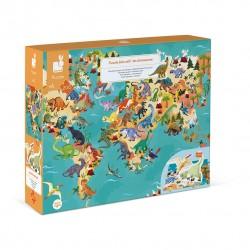 Puzzle éducatif géant Dinosaures (200 pcs)