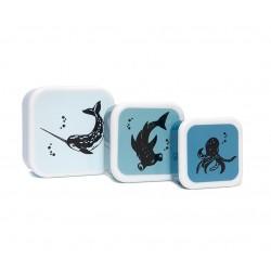 Set de 3 boîtes à collation Animaux de la mer