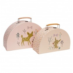 Set de 2 valisettes Woodland perzik