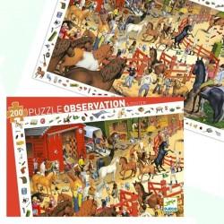 """Puzzle d'observation """"Equitation"""" (200 pcs)"""