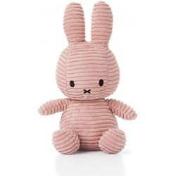 Lapin velours cotelé rose Miffy