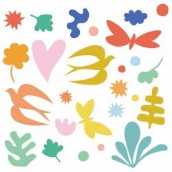 """Stickers fenêtre """"Fantaisie colorée"""" Djeco"""